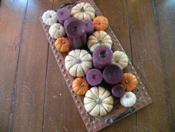 Coffee table fall centerpiece